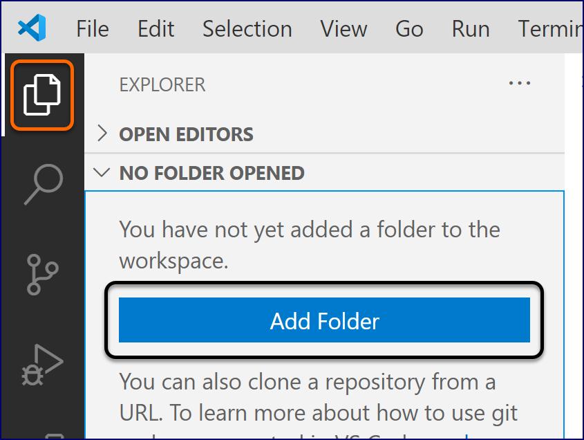 VS Code: Add Folder