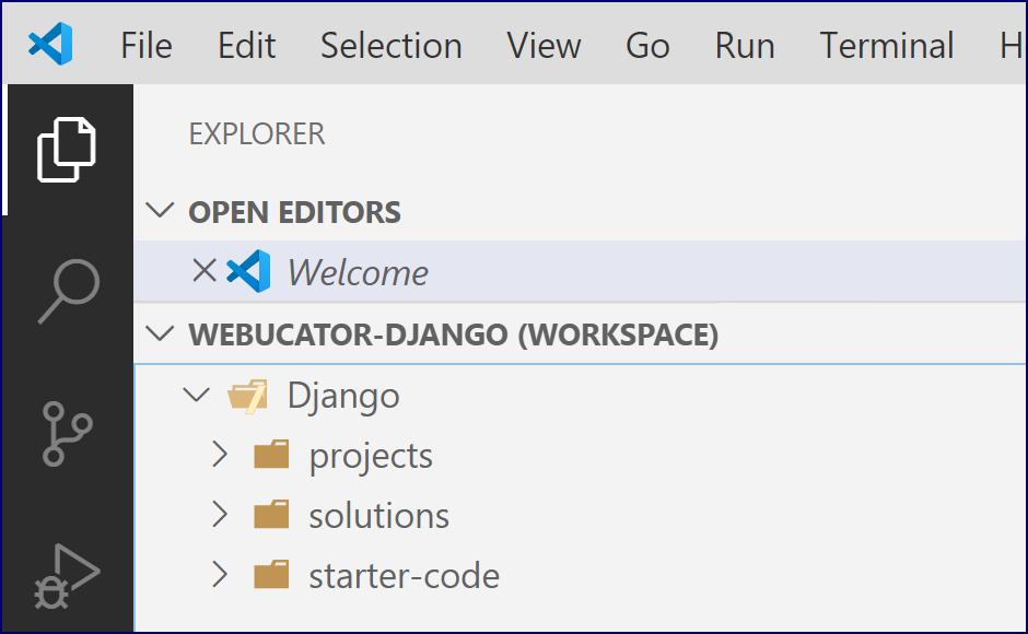 VS Code: Django Folder